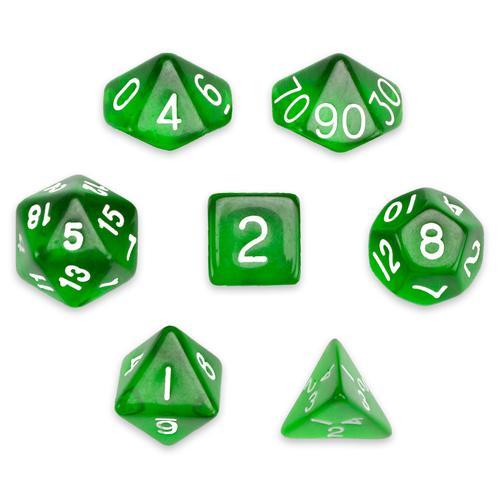 7 Die Polyhedral Set in Velvet Pouch, Sylvan Spirits