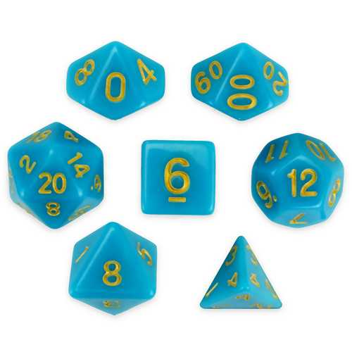 Set of 7 Polyhedral Dice, Skystone