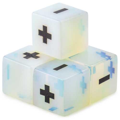 Handmade Stone Fudge Dice, Opalite, 4-pack
