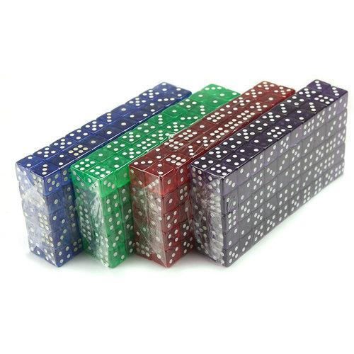 400 Count of 16mm Dice, 6-Sided Purple, Blue, Green, Red
