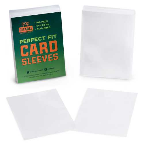 Perfect Fit Card Sleeves, 100-pack
