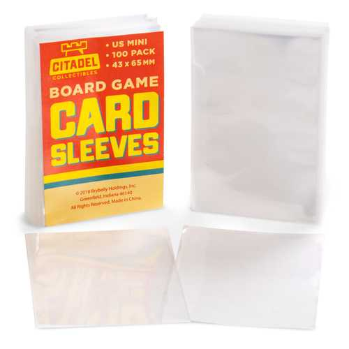 American Mini Board Game Sleeves, 100-pack