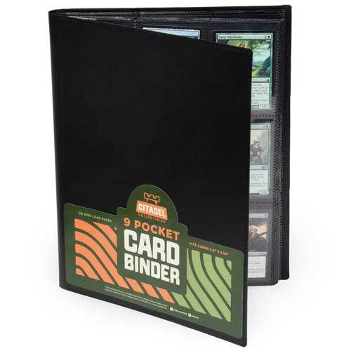 9-pocket Card Binder, Black