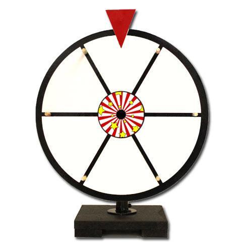 """12"""" White Dry Erase Prize Wheel"""