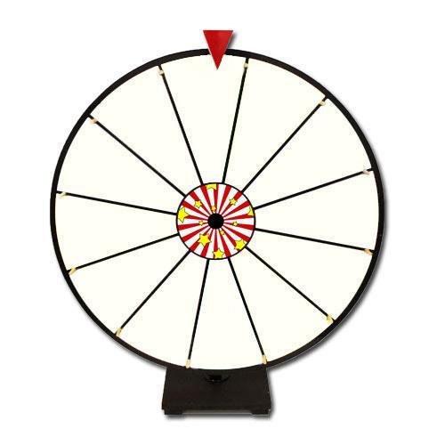 """24"""" White Dry Erase Prize Wheel"""