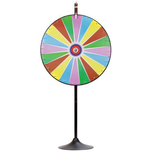 "36"" Dry Erase Color Prize Wheel w/Extension Base"
