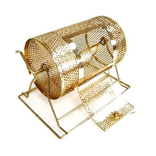 Medium Brass Raffle Drum