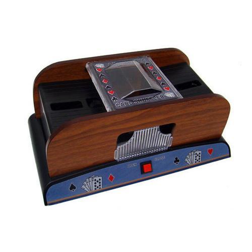 2 Deck Wooden Deluxe Card Shuffler