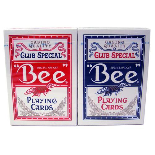 144 Bee No. 92 Diamond Back Club Special Red/Blue Decks Reg