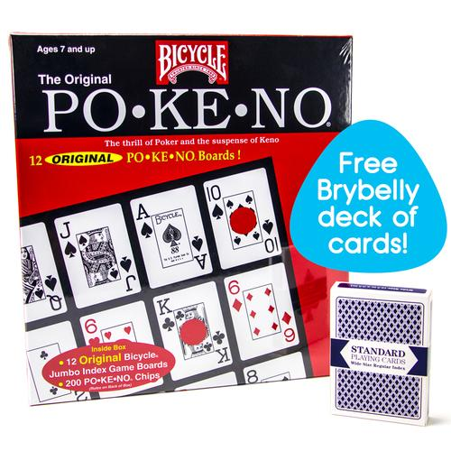Bicycle Po-Ke-No with Deck of Brybelly Playing Cards, Red