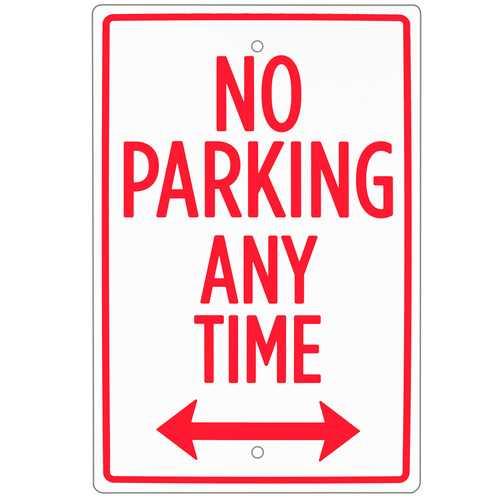 "No Parking Sign 18"" x 12"""