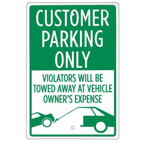"""Customer Parking Only Sign 18"""" x 12"""""""