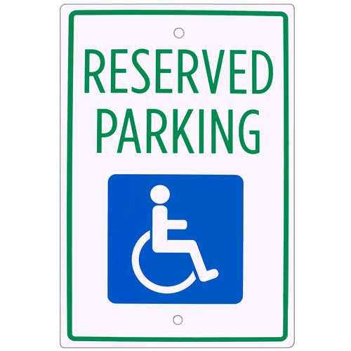 "Handicap Parking Sign 18"" x 12"""