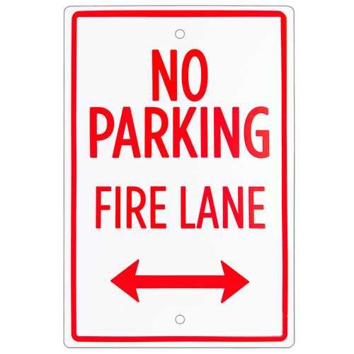 """No Parking - Fire Lane Sign 18"""" x 12"""""""