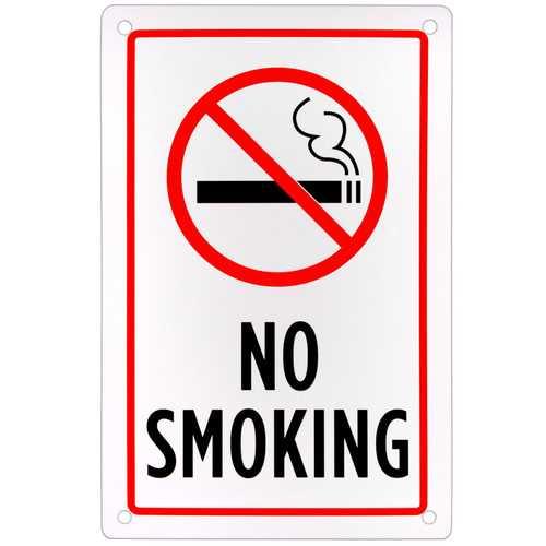 "No Smoking Sign 18"" x 12"""