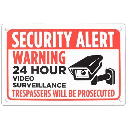 """Security Alert Sign 18"""" x 12"""""""
