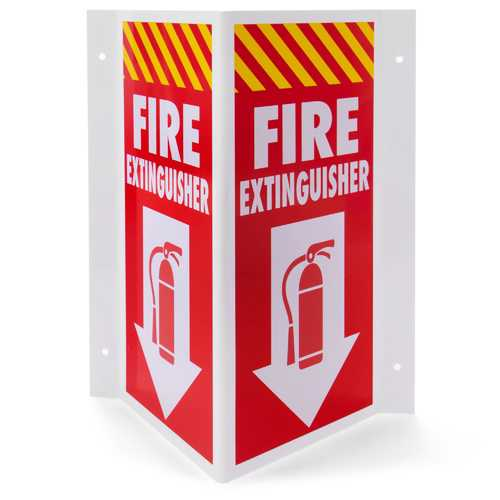 3D Fire Extinguisher Sign