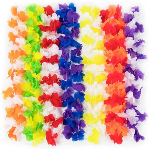 12 Pack Colorful Leis