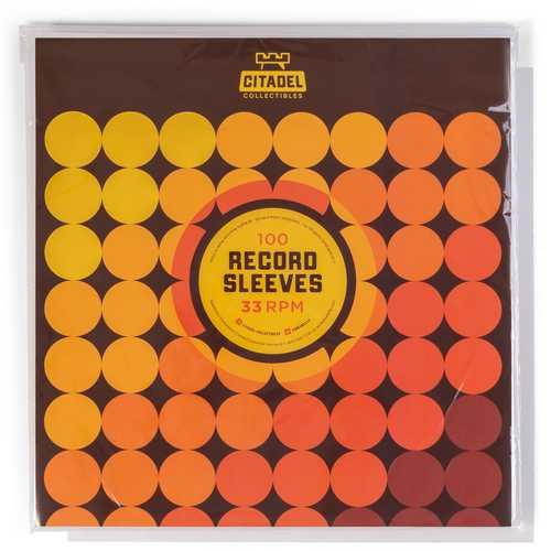 33 RPM Record Sleeves, 100-pack