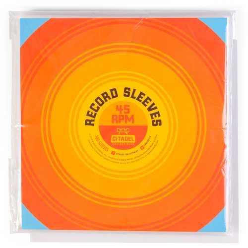 45 RPM Vinyl Record Sleeves, 100-pack