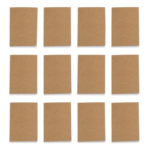 Unlined Brown Pocket Journal, 12-pack