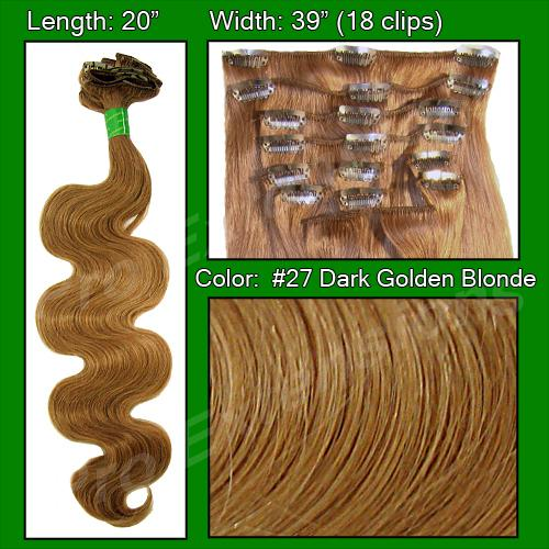 #27 Dark Golden Blond - 20 inch Body Wave