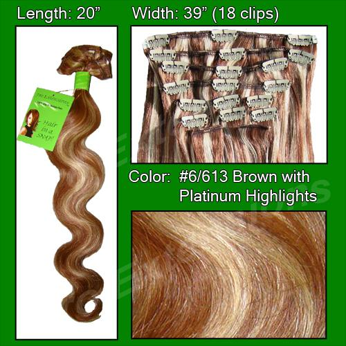 #6/613 Chestnut Brown w/ Platinum Highlights - Body Wave