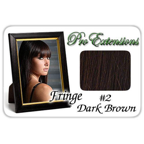 #2 Dark Brown Pro  Fringe Clip In Bangs