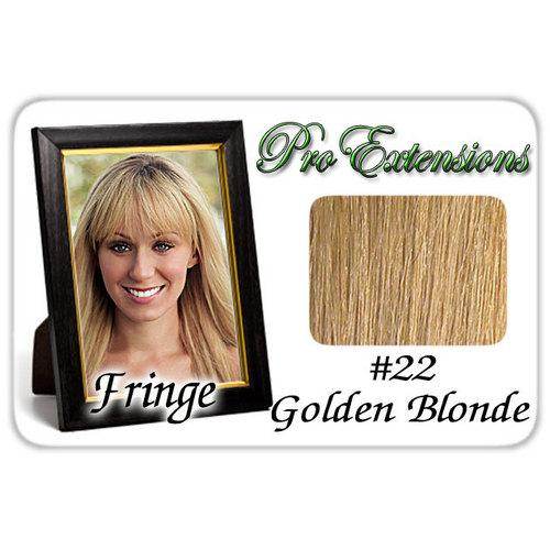 #22 Golden Blonde Pro  Fringe Clip In Bangs