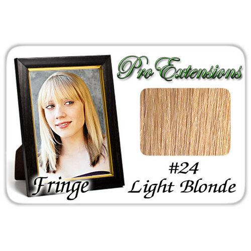 #24 Light Blonde Pro  Fringe Clip In Bangs
