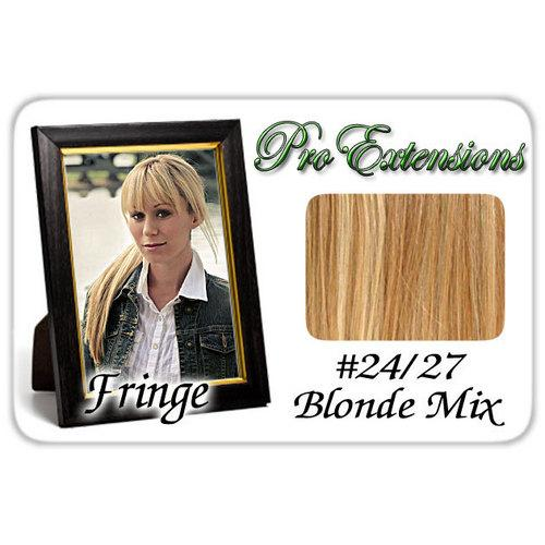 #24/27 Blonde Mix Pro  Fringe Clip In Bangs