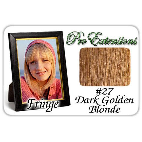 #27 Dark Golden Blonde Pro  Fringe Clip In Bangs