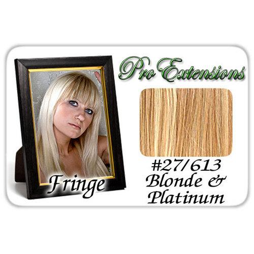 #27/613 Dark Blonde w/ Platinum Pro  Fringe Clip In Bangs