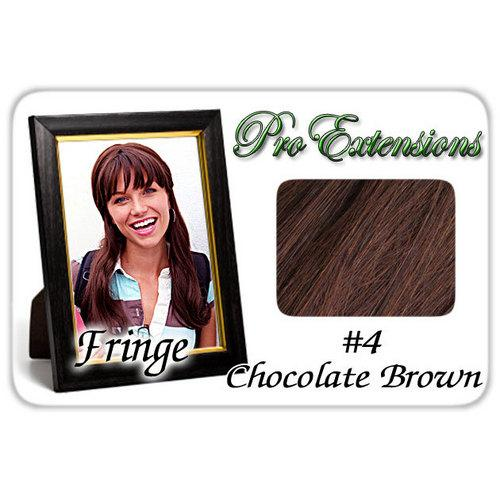 #4 Chocolate Brown Pro  Fringe Clip In Bangs