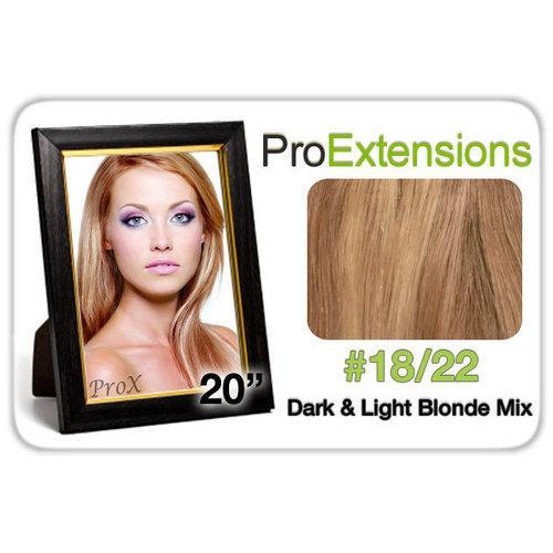 "Pro Lace 20"", #18/22 Dark Blonde w/Light Blonde Highlights"