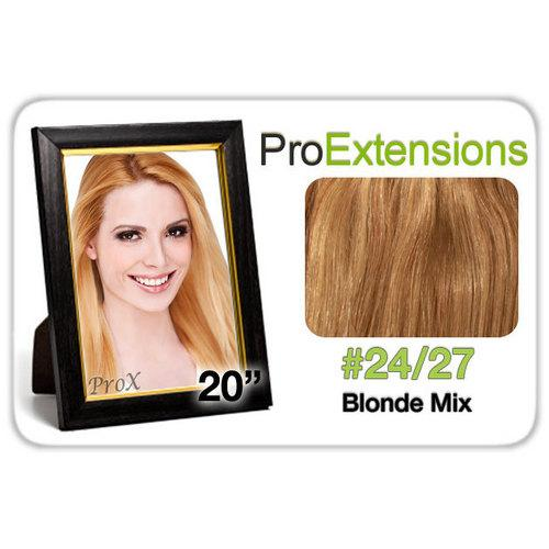 "Pro Lace 20"", #24/27 Light Blonde w/Dark Blonde Highlights"