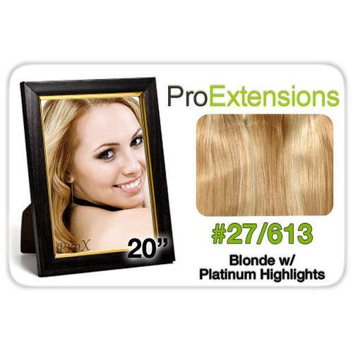"Pro Lace 20"", #27/613 Blonde w/Platinum Highlights"
