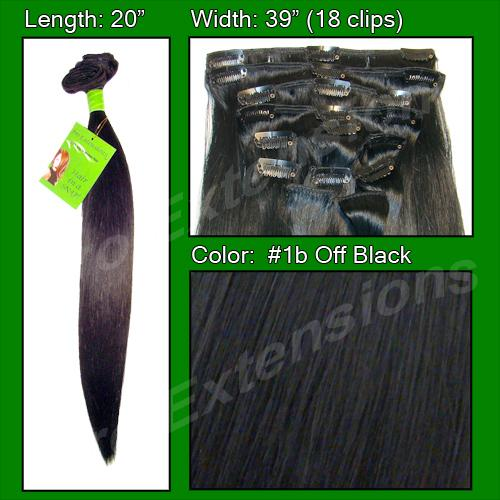 #1B Off Black - 20 inch Remi