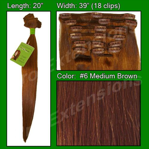 #6 Medium Brown - 20 inch Remi