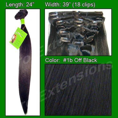 #1b Off Black - 24 inch Remy