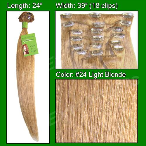 #24 Light Blonde - 24 inch Remy