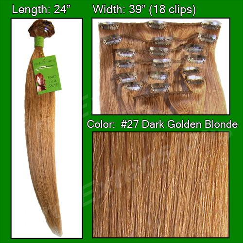 #27 Dark Golden Blonde - 24 inch Remy
