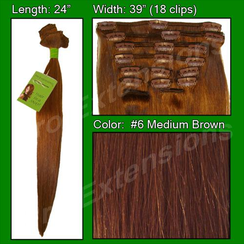 #6 Medium Brown - 24 inch Remy