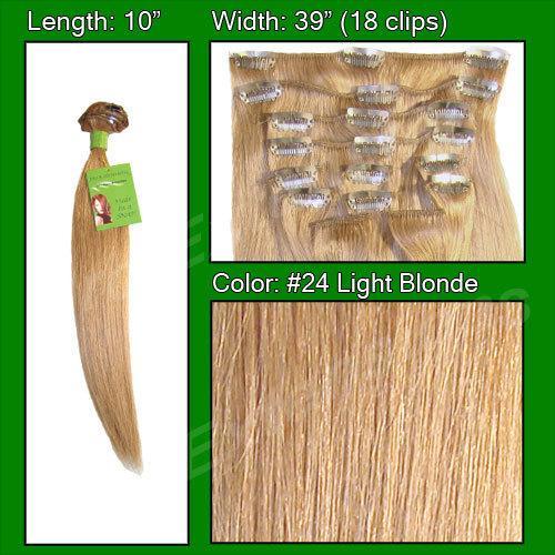 #24 Light Blonde - 10 inch