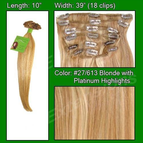 #27/613 Golden Blonde w/ Platinum Highlights - 10 inch