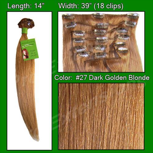 #27 Dark Golden Blonde - 14 inch