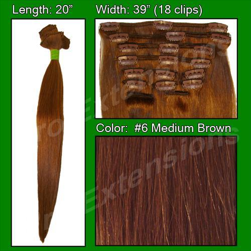 #6 Medium Brown - 20 inch