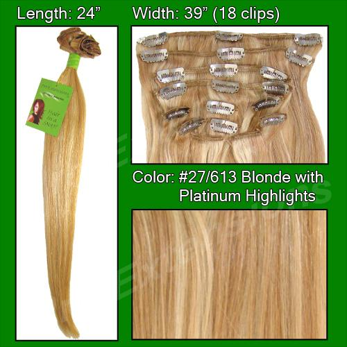 #27/613 Golden Blonde w/ Platinum Highlights - 24 inch