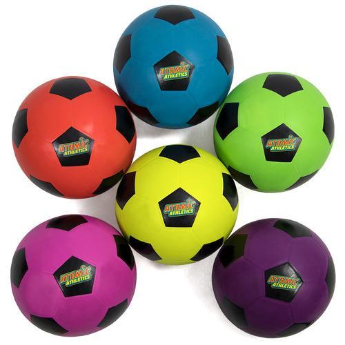 6 Regulation Size Neon Soccer Balls