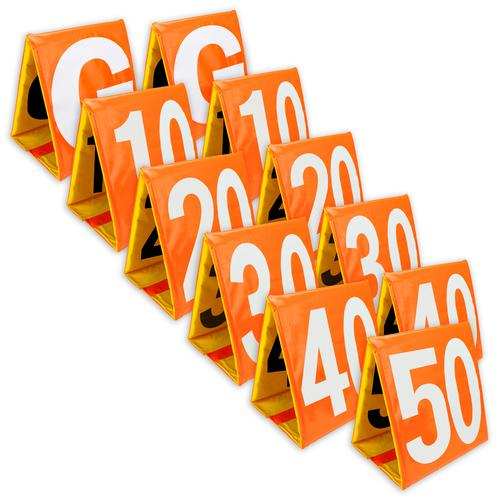 Day/Night Football Yard Markers, Full Set of 11
